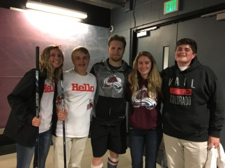 Pepsi Center Friends Volunteers Gabriel Landeskog w Lucas