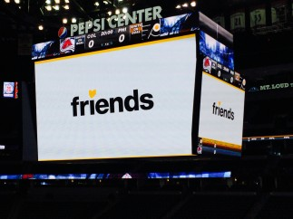 Pepsi Center Jumbotron Friends Logo close