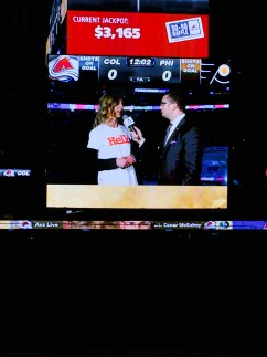Pepsi Center Jumbotron Pernilla interview 2