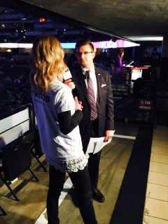 Pepsi Center Jumbotron Pernilla interview 3