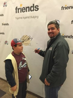 Pepsi Center Pledge Wall Father and Son